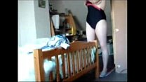 Watch my fully nude cute mom inserting tampon. ...