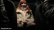 jeny smith has being caught naked on a back seat of taxi
