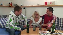 orgy threesome hot in granny Blonde