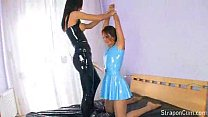 latex lesbians fucking with their strapons
