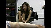 employee lazy her off jerks boss lady Hot
