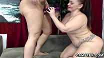 two lesbians with big ass and tits equal double trouble