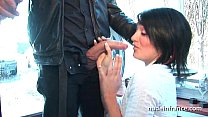 Gorgeous amateur french student hard double vag...