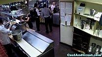 Housewife big facial in restaurant restroom porn videos