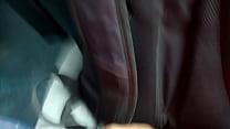 bus on girl near masturbation double | micro bus en chica cerca paja Doble