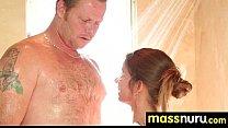 Sweetie gives a hot slippery nuru massage 16