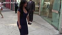 Kim Kardashian BOOBS Burst Out Of Her Top For...
