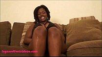 Big Fat Black ugly Whore Gets Fuck & footjob cum on feet