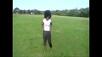 Blac Chyna at the park rob kardashian girlfriend