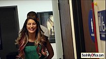 busty august ames has quickie sex in the office bathroom
