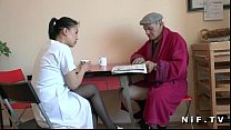 nurse asian young a doing voyeur papy man old French