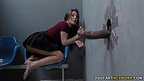Jojo Kiss sucks BBCs before getting fucked at Gloryhole