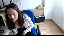 1 parte oficina la en masturba se Chica