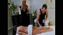 husband her and masseuse milf busty a by seduced Teen