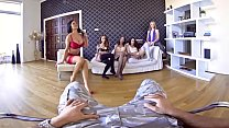 VR PORN-Five hot girls Warship your dick