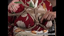 Asian mature bitch has a rope session to endure porn videos