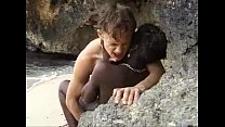 beach the on fucked anal gets teen African