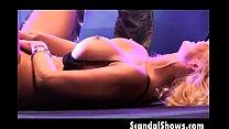 Blonde striper showing her amazing body