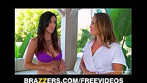 strap-on with hard masseuse sexy her fucks beauty lesbian Busty