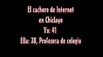 secundario colegio de profesora con chiclayo en norte del Cachero