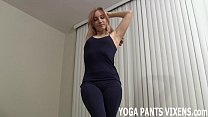 My tight black yoga pants will get you nice and...