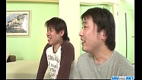 Araki Hitomi deals younger males in superb threesome porn videos