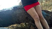 roja minifalda Hermosa
