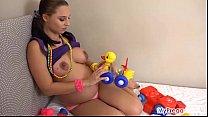Pregnant Alyssa Fucks Herself with Children's T...