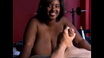 Beautiful busty black BBW is a super hot fuck