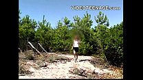 beach at upskirt teen Blonde