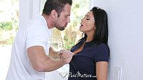 puremature   audrey bitoni gets a hole in one with johnny