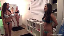 Asa Akira, Capri Cavanni & Chirsty Mack On Set