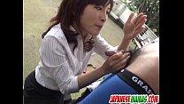 tai phim sex -xem phim sex Outdoor cock sucking experience for Kana Shimada