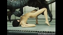 3d alien monsters destroy girls
