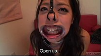 Subtitled bizarre Japanese facial destruction b...
