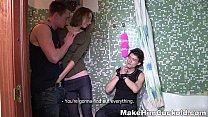 bathroom a in cuckolded - cuckold him Make