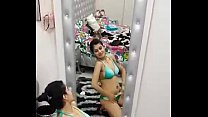 Indian Girl Dancing and Stripping in Hostel