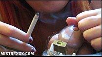 smoking mistress handjob tease