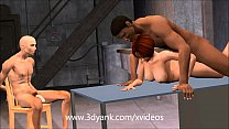 3d pussy! with mechanics the pay to has wife Animated
