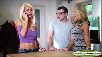 Четыре толстых члена рвут одну дырку порно