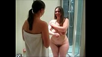britishn curvy babes lotion up their curves