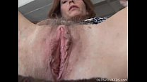asshole and pussy her fucks redhead Mature