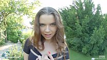 Primecups Russian beauty with huge melons plays...