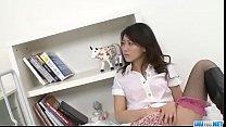 Hina Aisawa smooth Asian threesome on cam
