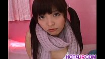 Yurika goto is fucked in mouth and in hairy nooky by two men