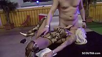 German Skinny Amateur Teen in Gangbang with Many Older Mans thumbnail