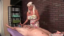 handjob granny Huge-titted