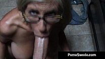 euro porn star puma swede gets milky glasses after blow job