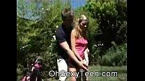 golf at sucking blonde teen Amateur