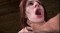 BDSM big tits redhead deep throat fucked in dun...